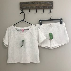 Lilly Pulitzer White Dossie Set Size SMALL $148